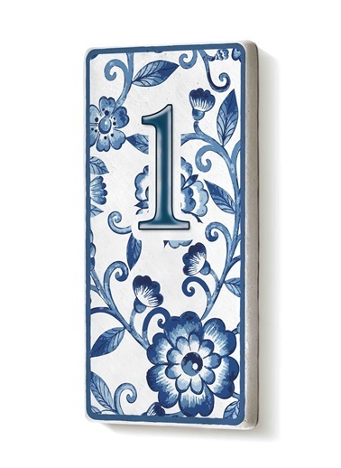 The Mia Kapı Numarası Mavi Beyaz 1 Mavi